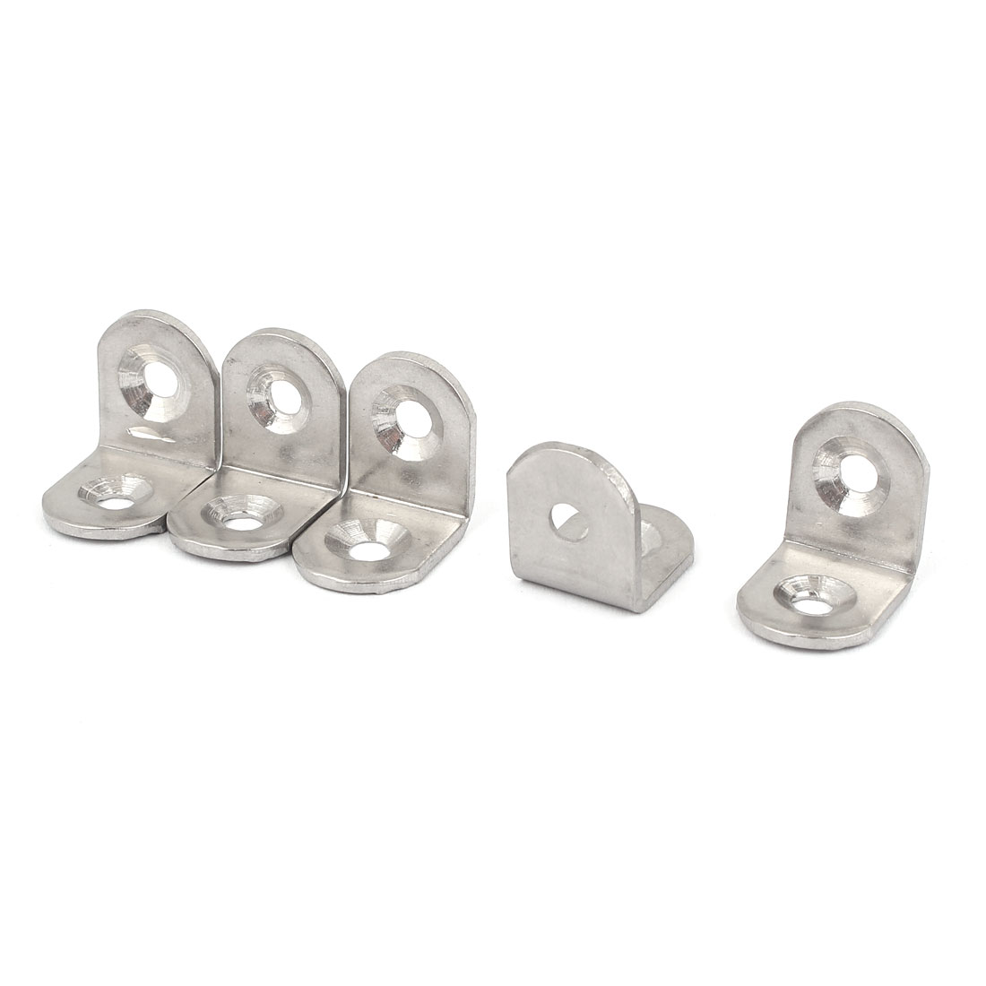 20mm x 20mm Stainless Steel L Shape Corner Brace Joint Right Angle Bracket 5pcs
