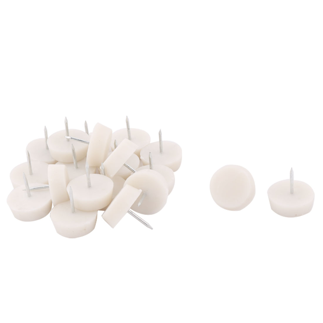 Household Furniture Cabinet Floor Protector Gliding Nail 27mm Height 20pcs