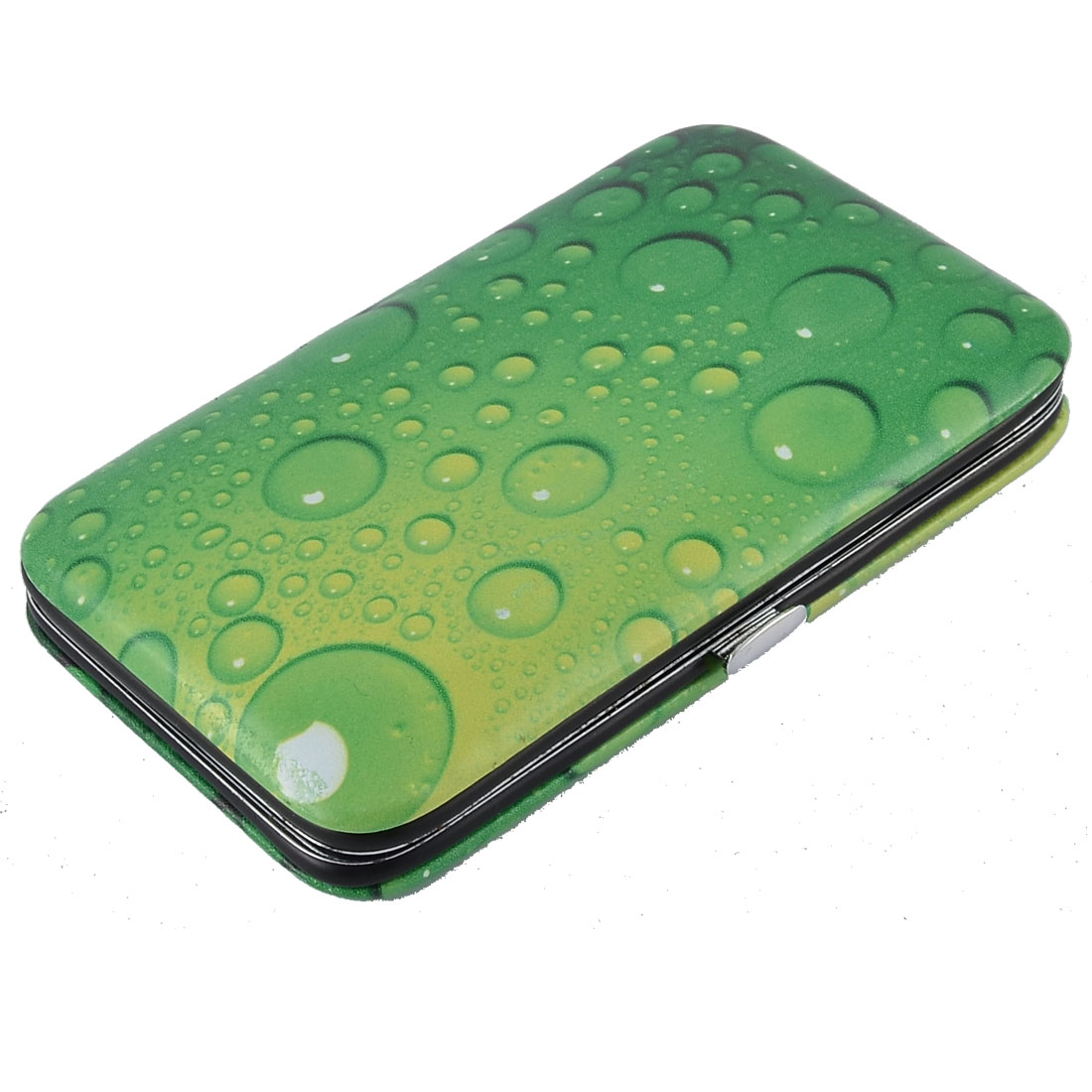 9 in 1 Green Waterdrop Pattern Case Manicure Nail Clipper Cuticle Grooming Set