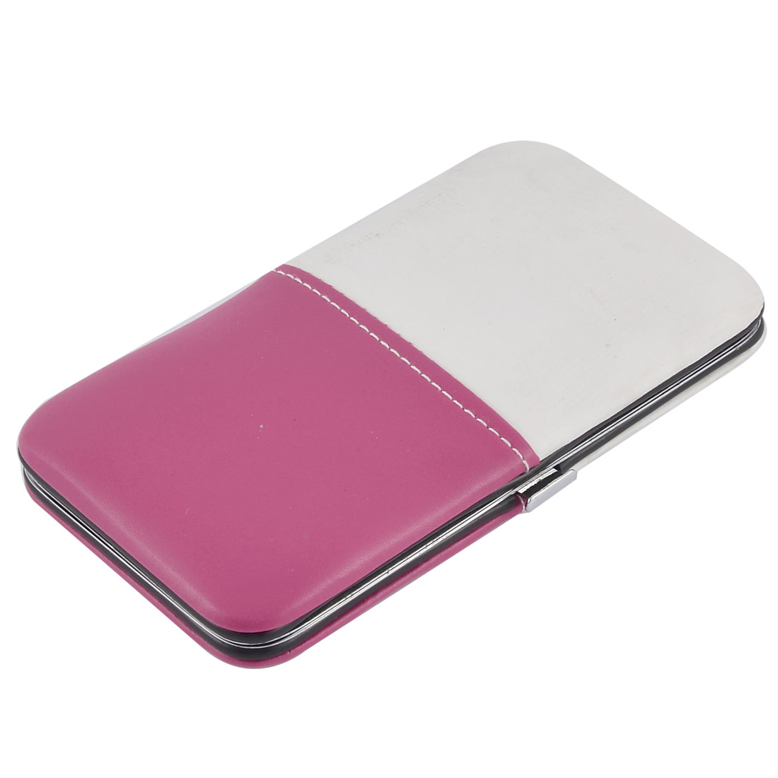 12 in 1 Faux Leather Case Manicure Nail Clipper Cuticle Grooming Set Pink White