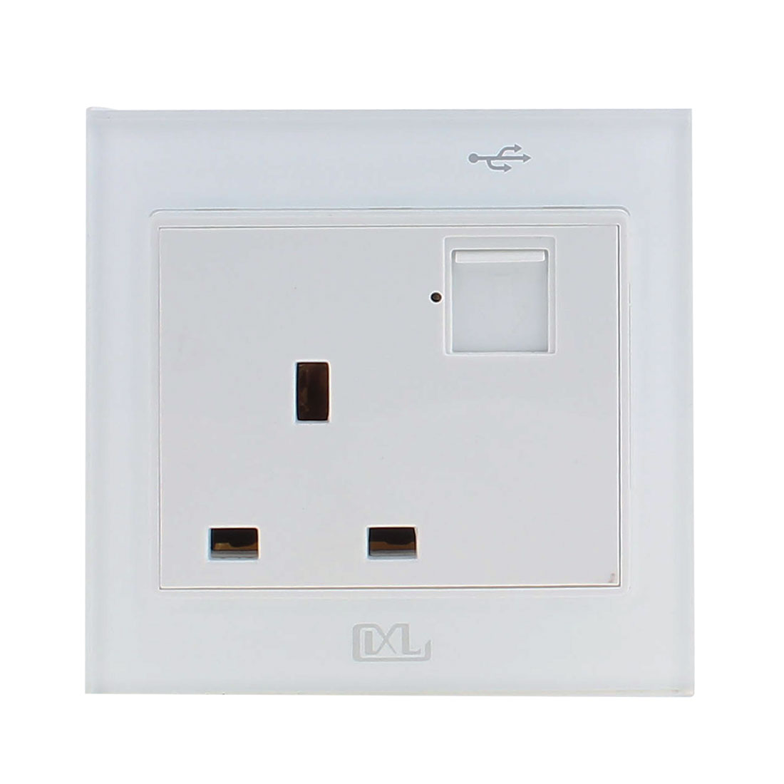 Double AC 110V-250V UK Socket 2 USB Port 5VDC 2100mA Charger Charging Power Switch Wall Outlet