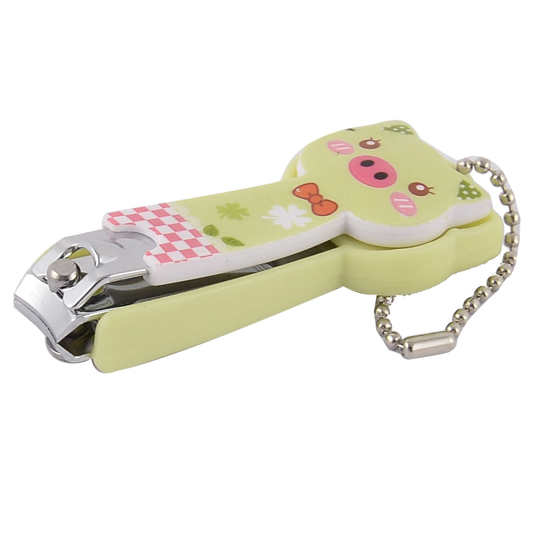 Cartoon Pig Pattern Manicure Tool Finger Toe Nail Clipper Cutter Trimmer Green