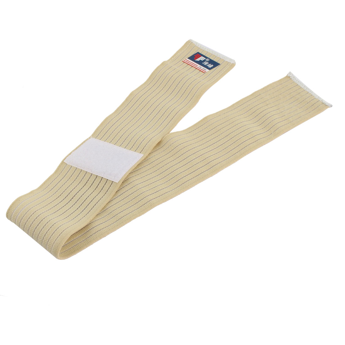 Unisex Outdoor Sports Elastic Fiber Stripe Pattern Ankle Support Strap Beige
