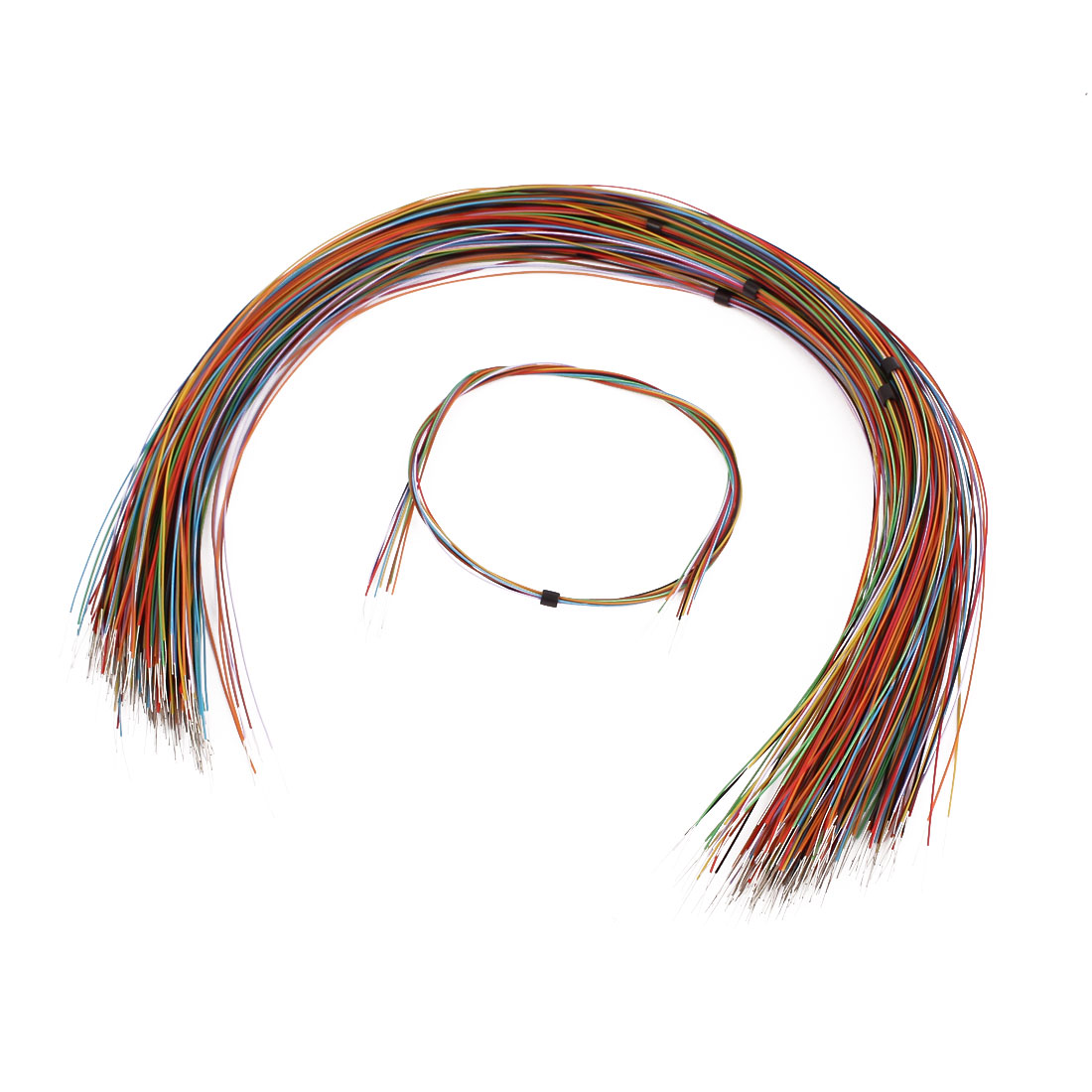 High Temperature Resistant Wrapping Wire Cable 365mm x 0.4mm Multicolor 200 Pcs