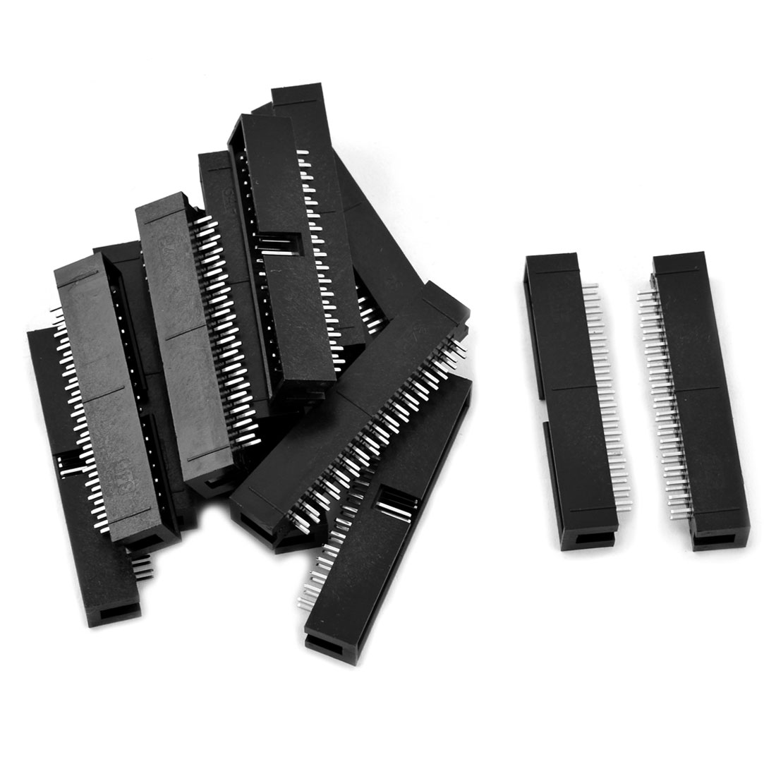 34 Pin Double Row Straight IDC Box Header Connector 2.54mm Pitch 15 Pcs