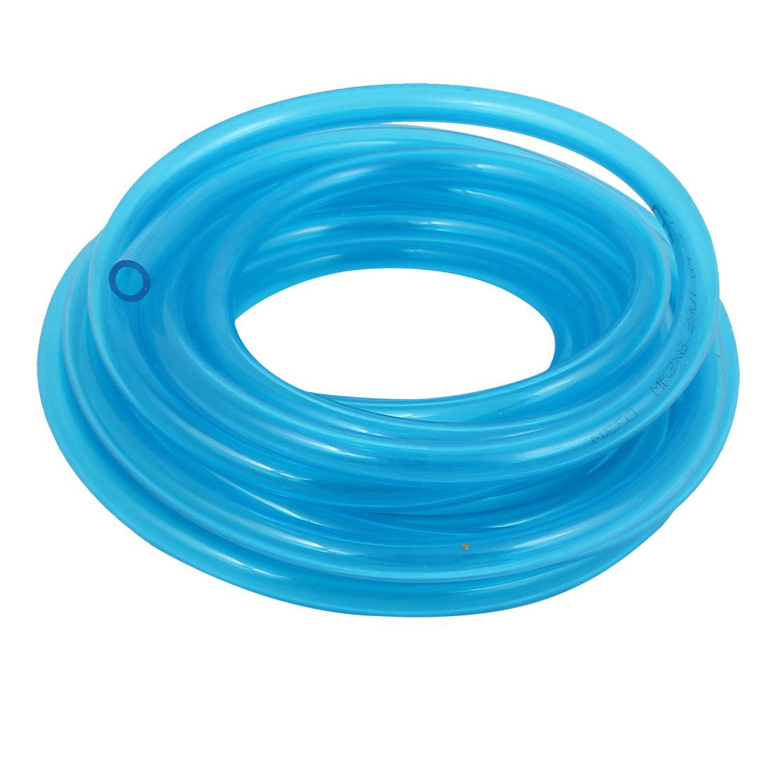 3.8M 12.5Ft 8mm x 5mm Polyurethane PU Hose Pipe Air Tube Hose Clear Blue