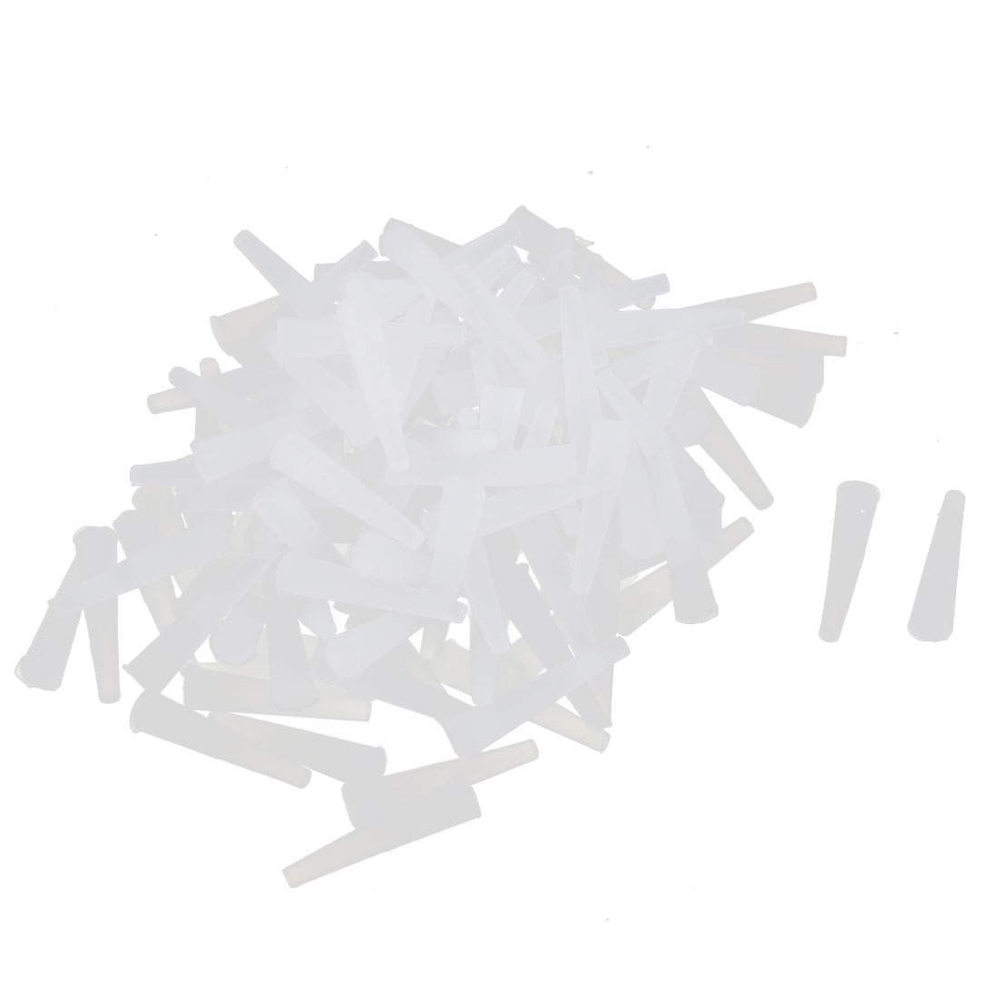 Powder Coating Silicone End Cap Tapered Stopper White 3.5mmx1.6mm 140 Pcs