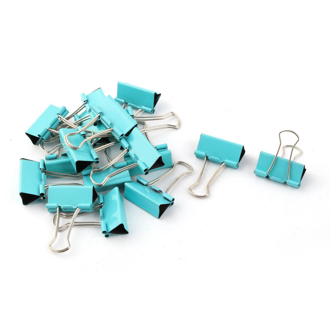 Office Supplies Folder Paper Money Binder Clip Green Silver Tone 17pcs