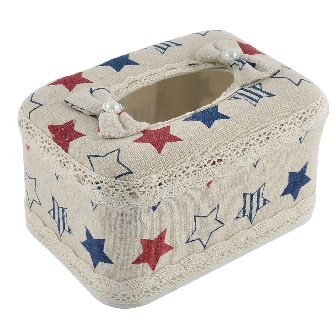Household Bathroom Rectangle Shaped Star Pattern Napkin Paper Tissue Box Case Holder Cover Storage