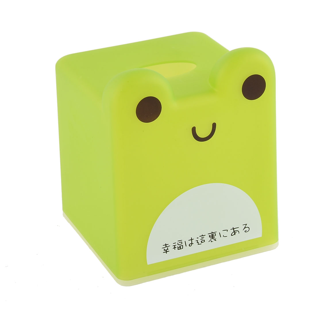 Household Bathroom Square Shaped Frog Pattern Napkin Roll Tissue Paper Box Case Holder Cover Storage Green