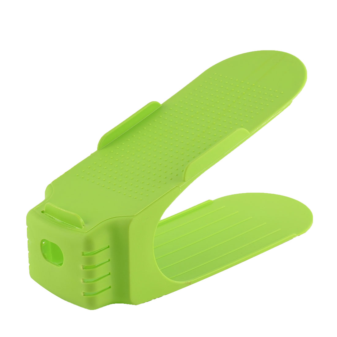 Household Plastic Space Saver Heel Shoe Holder Organizer Rack Collector Stacker Storage Green