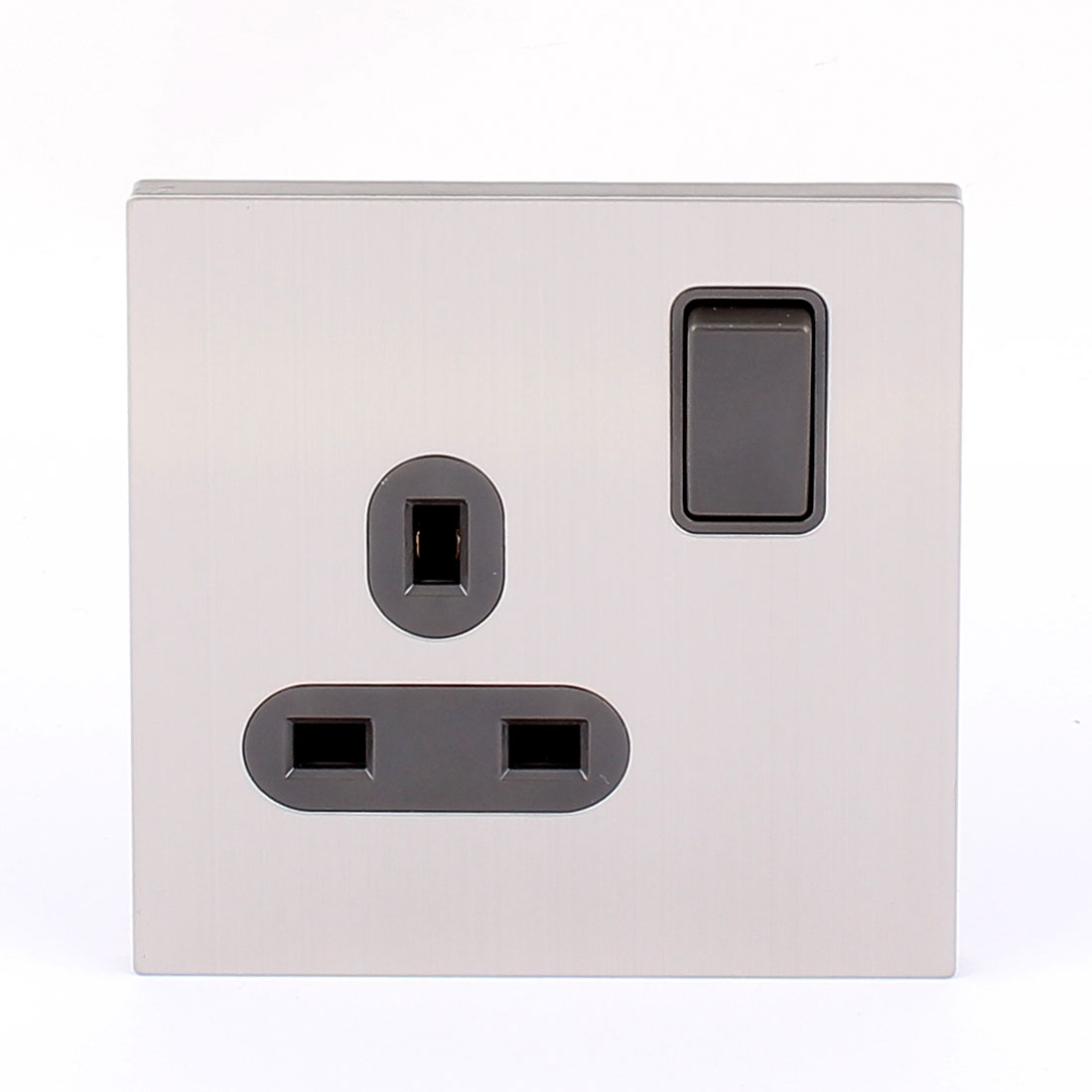 13A 250V Rectangle Pin Black ON/OFF Switched UK Standard Wall Mounted Socket