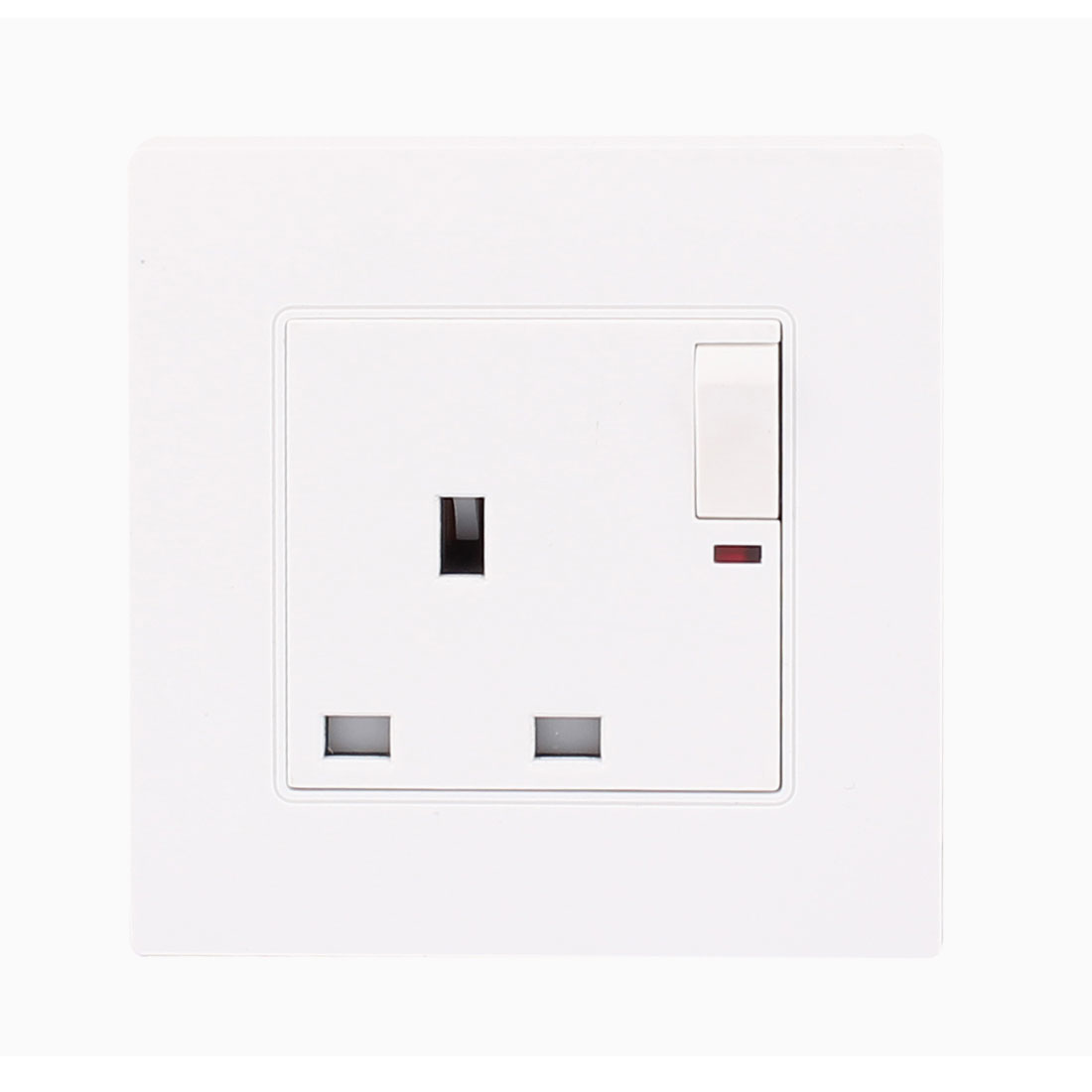 Malaysia UK Standard A8 Series White Wall Plate Sockets AC 13A 250V for Foreign Trade