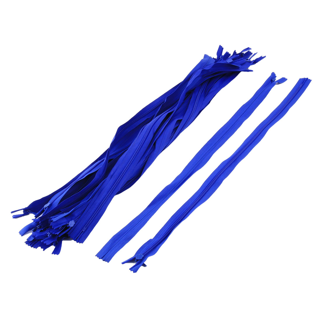 Replacement Polyester Invisible Style Clothes Trousers Zipper Kit Blue 20 Pcs