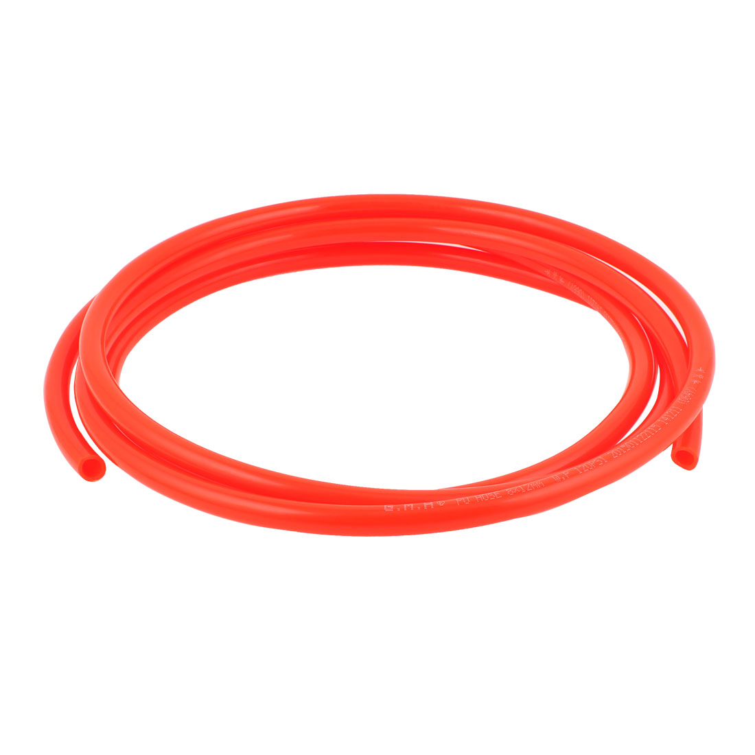 12mm x 8mm Fleaxible PU Tube Pneumatic Polyurethane Hose 3 Meters Long Orange