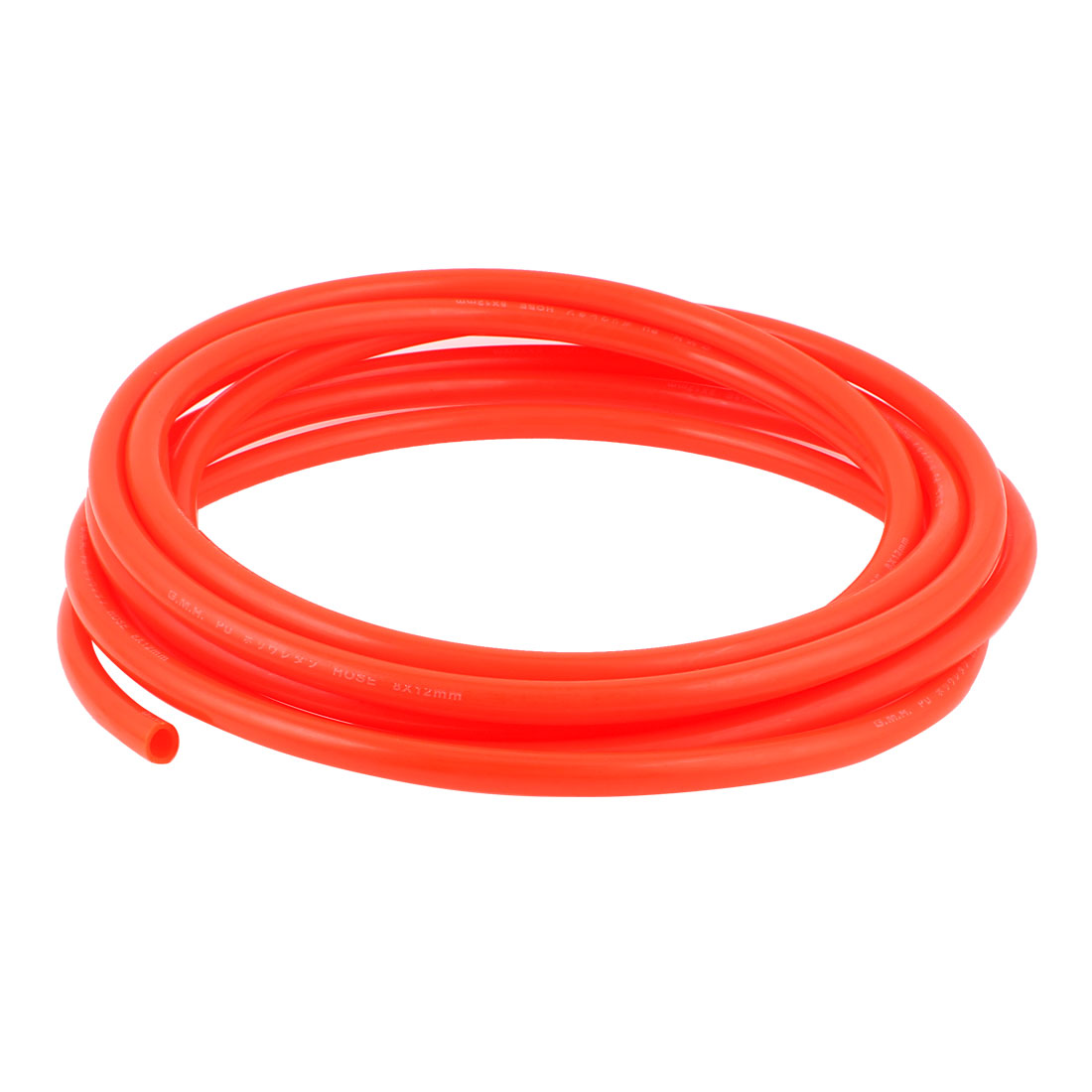 12mm x 8mm Fleaxible PU Tube Pneumatic Polyurethane Hose 5.5M Length Orange