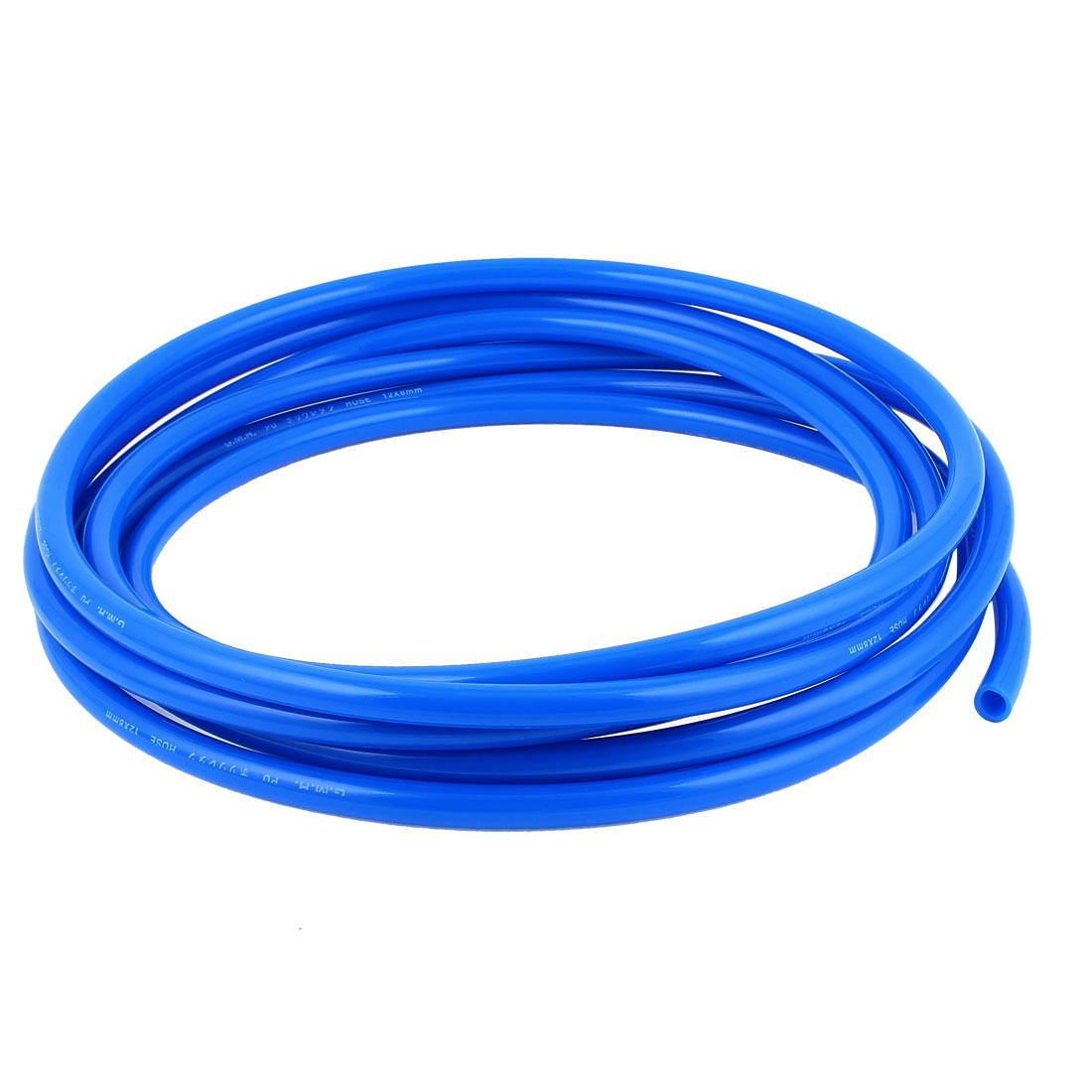 12mm x 8mm Fleaxible PU Tube Pneumatic Hose Blue 5M Length