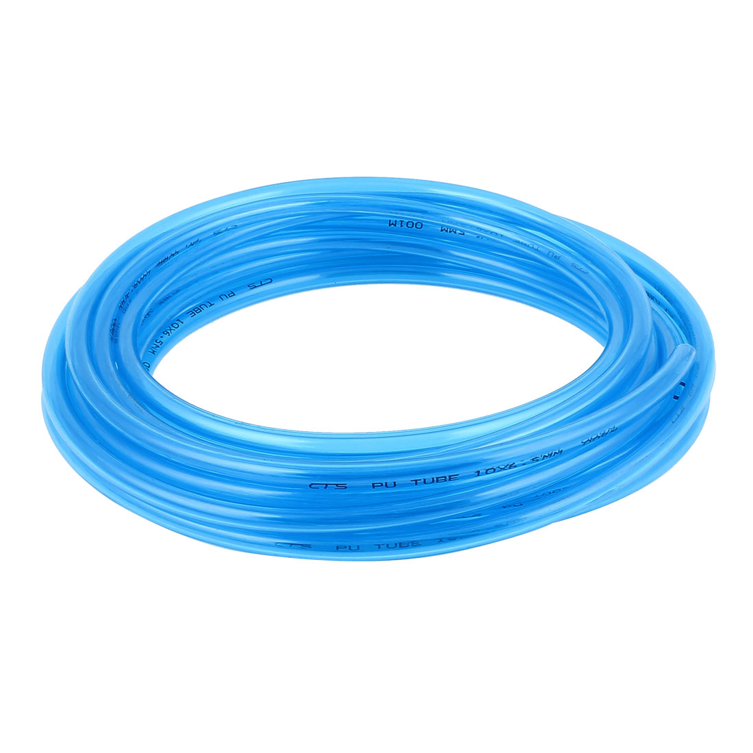 10mm x 6.5mm Clear Blue Fleaxible PU Tube Pneumatic Polyurethane Hose 9M Long
