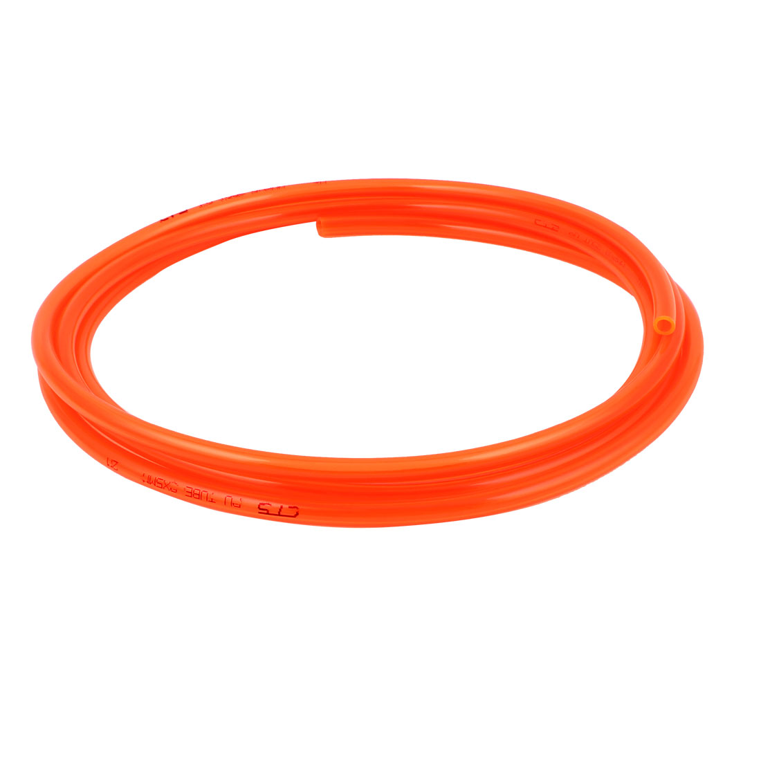 8mm x 5mm Clear Orange Fleaxible PU Tube Pneumatic Polyurethane Hose 3 Meters Long