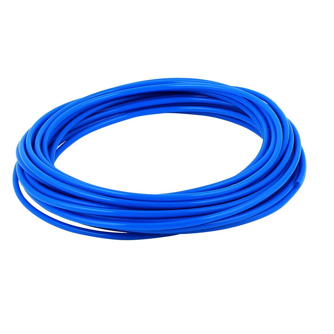 4mm x 2.5mm Fleaxible PU Tube Pneumatic Hose Blue 10M Length