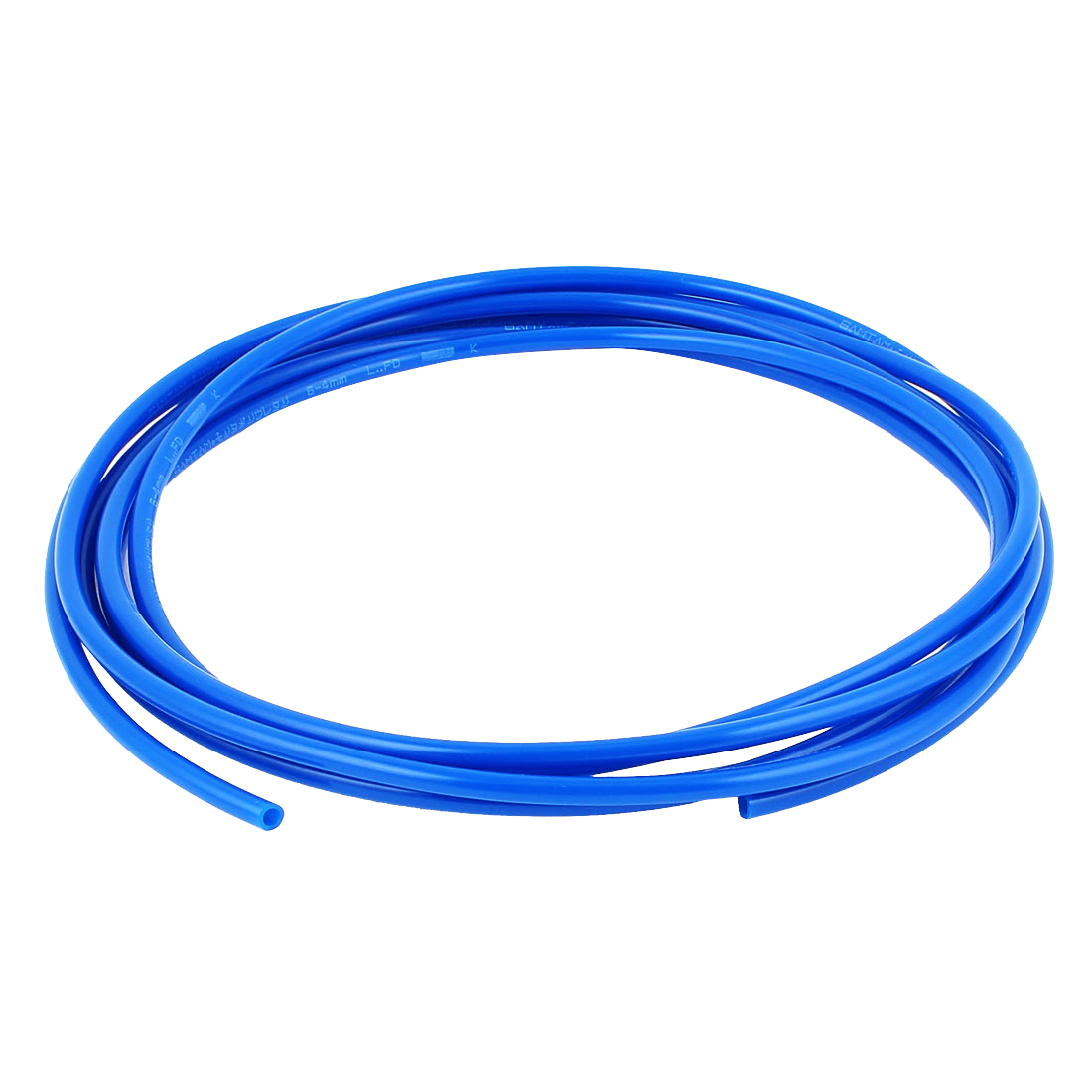 6mm x 4mm Fleaxible PU Tube Pneumatic Hose Blue 4M Long