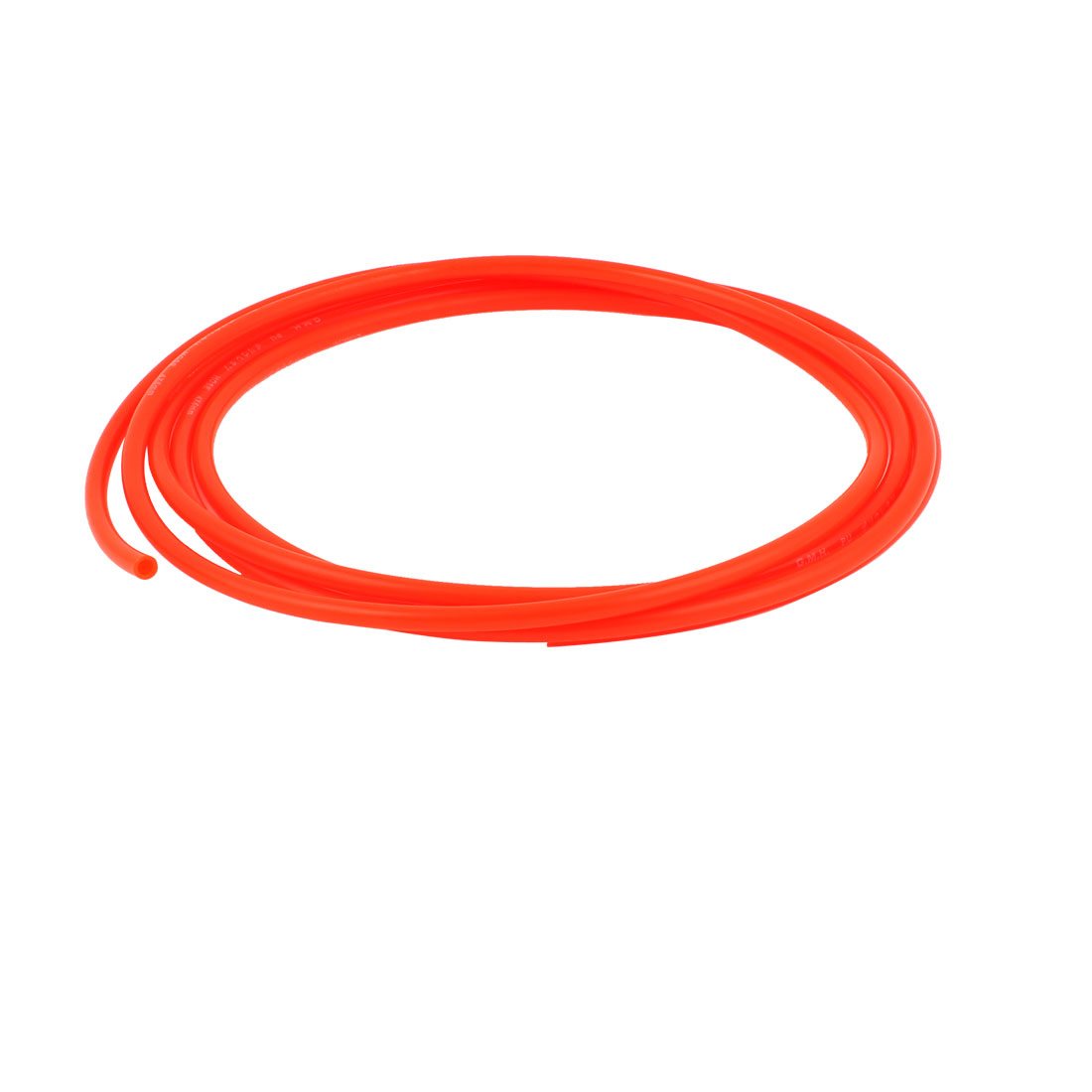 6mm x 4mm Fleaxible PU Tube Pneumatic Polyurethane Hose 3 Meters Long Orange