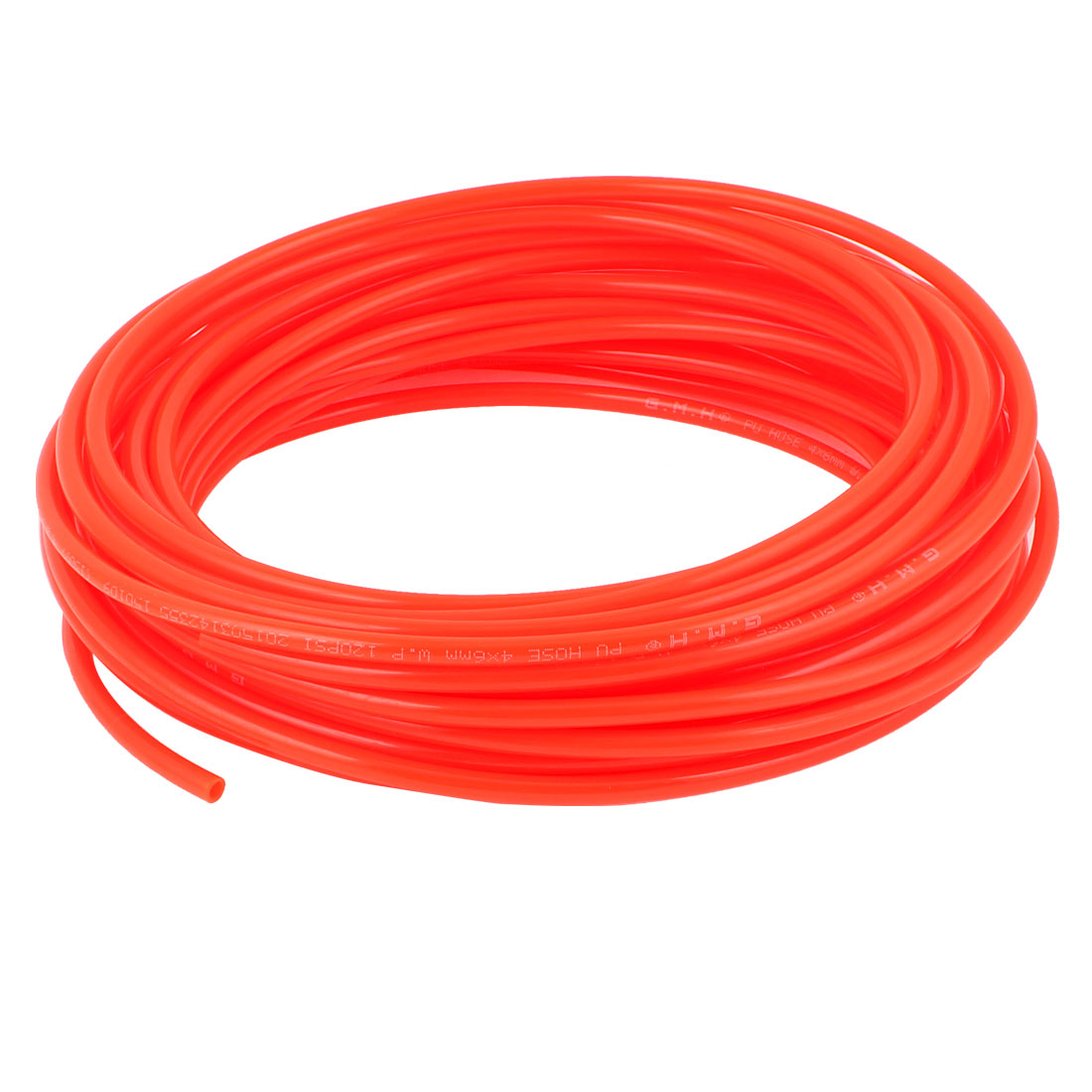 6mm x 4mm Fleaxible PU Tube Pneumatic Polyurethane Hose 15M Long Orange