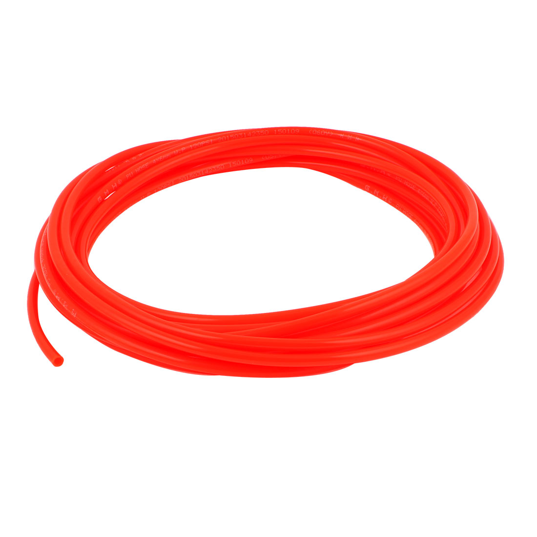 6mm x 4mm Fleaxible PU Tube Pneumatic Polyurethane Hose 9.5M Long Orange