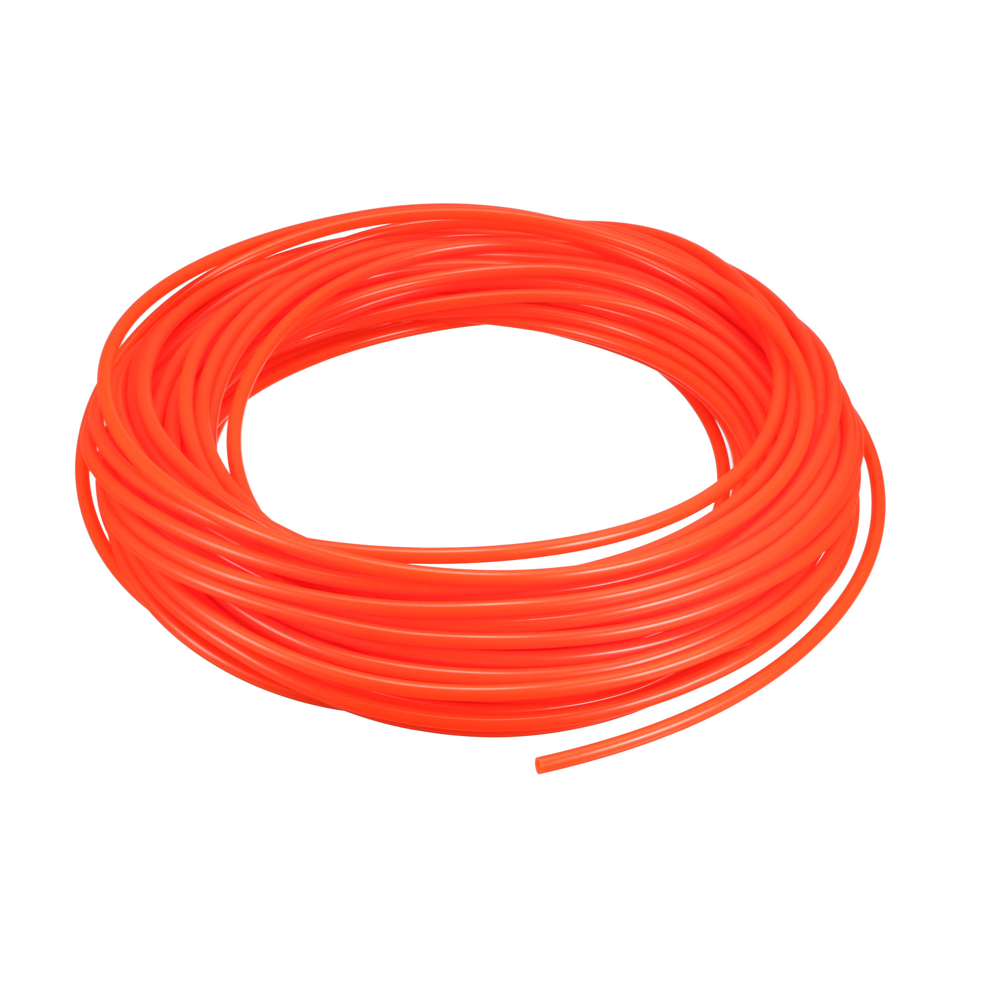 Polyurethane PU Air Tube Tubing Pipe Hose Orange 20M Length 4mm x 2.5mm Dia