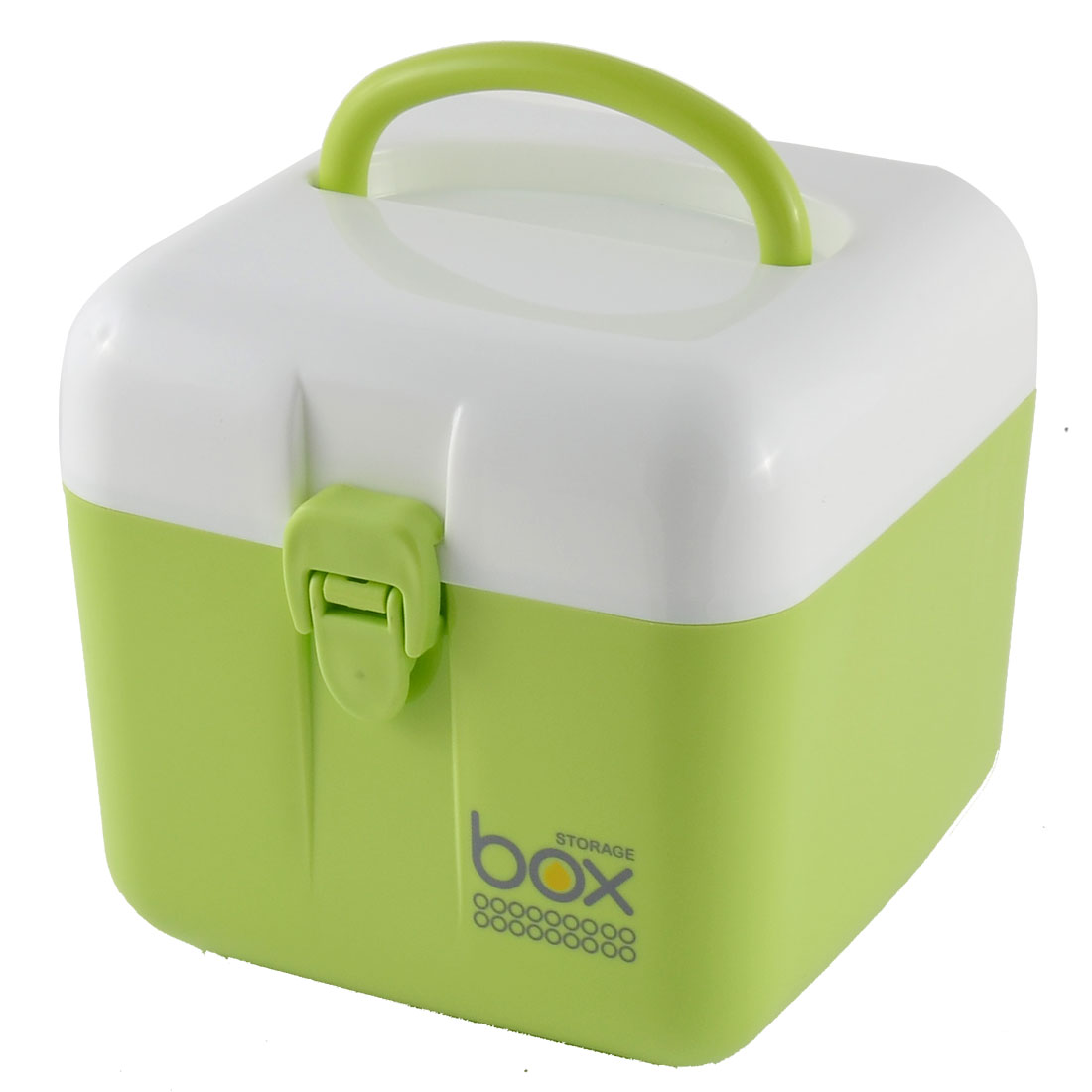 Office Household Jewelry Plastic Square Storage Box Case Holder Organizer Container Green