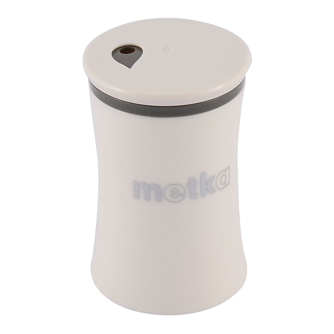 Household Coffee Shop Plastic Cylinder Shaped Toothpick Holder Container Storage Box Case White