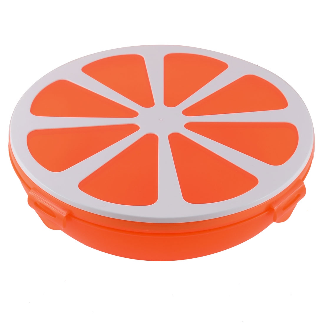 Family Household Camping Plastic Orange Shaped 4 Cell Sealed Candy Nut Dessert Box Storage