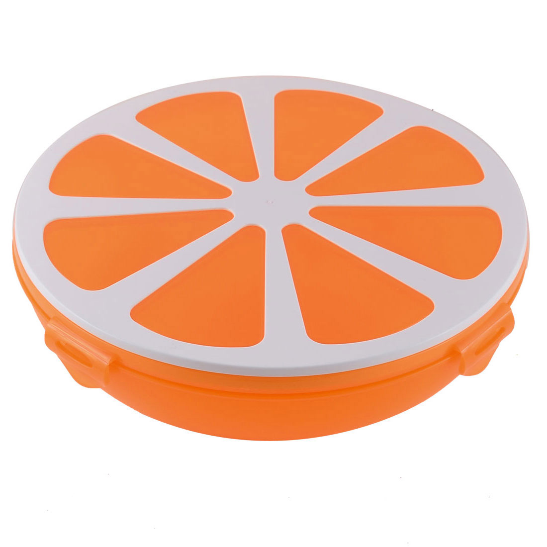 Wedding Party Plastic Sealed Candy Nut Dessert Snacks Box Storage Case Container Holder Orange
