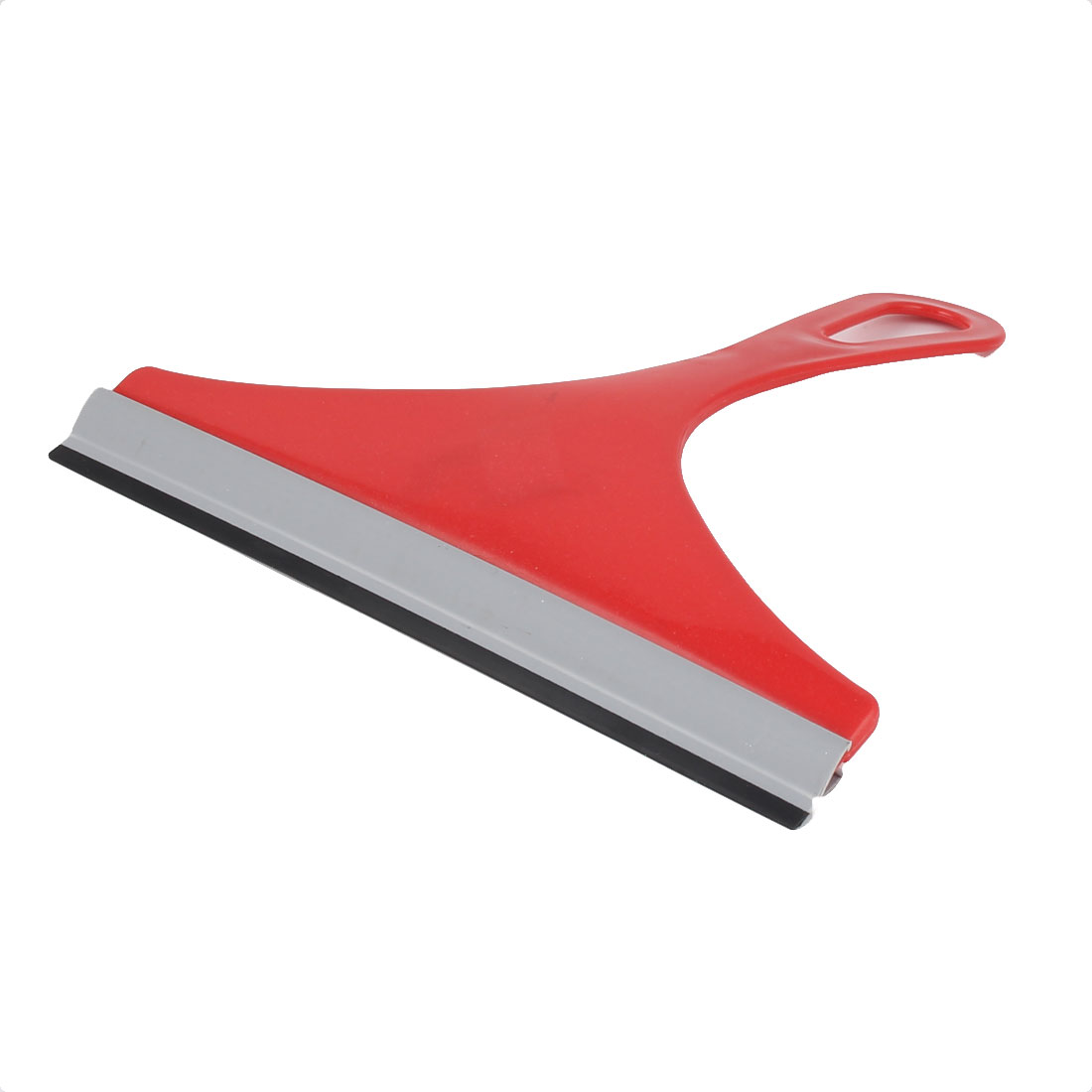 Household Kitchen Plastic Handle Car Window Glass Wiper Cleaner Red Gray