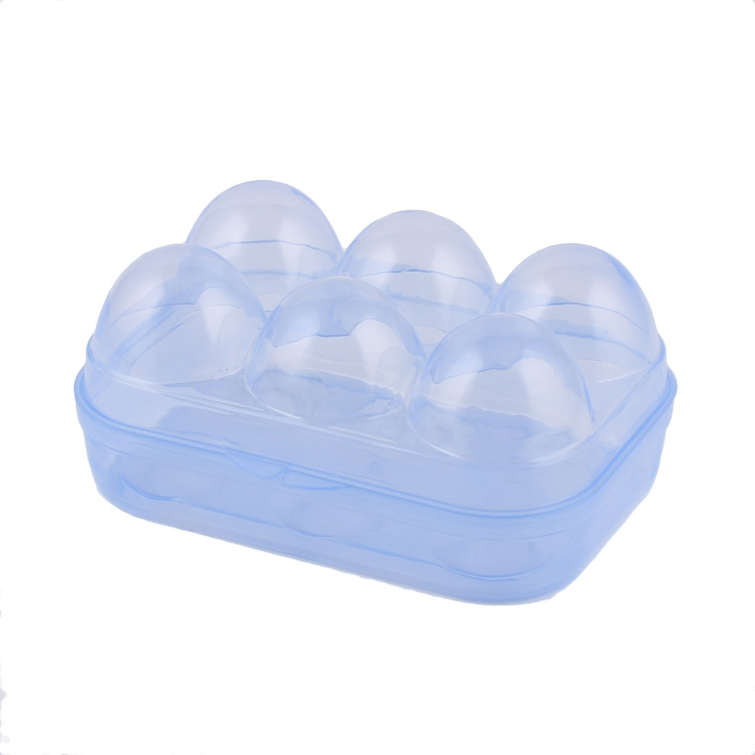 Household Outdoor Travel Plastic Egg Holder Container Case Storage Clear Purple