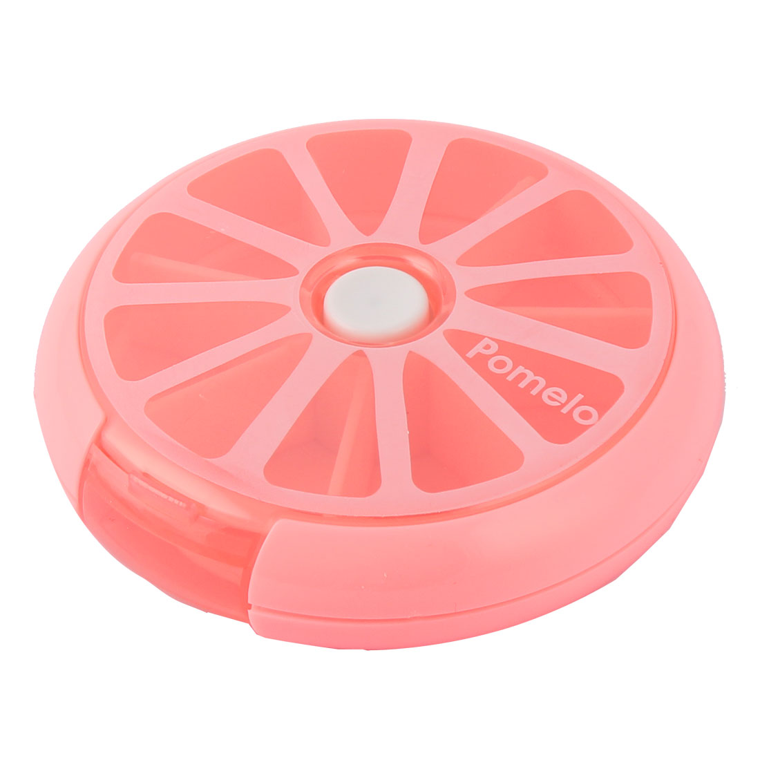 Household Travel Plastic Lemon Shaped Medicine Pill Box Case Container Fuchsia