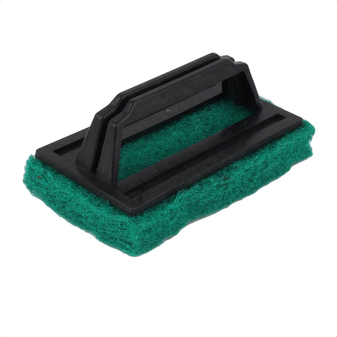 Household Kitchen Plastic Handle Sponge Bathtub Cleaning Brush Green Black