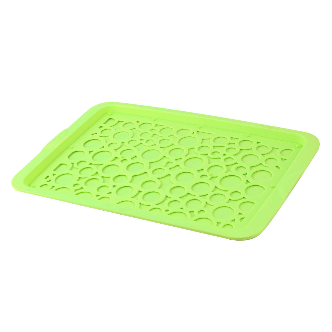 Plastic Rectangular Shaped Fast Food Cafeteria Cafe Serving Tray Light Green