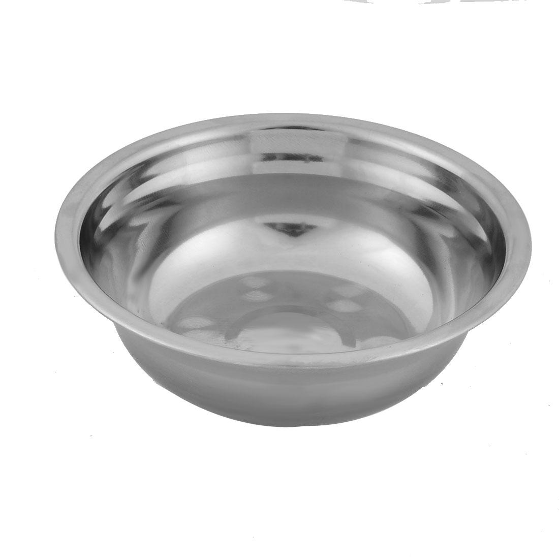 Household Kitchen Stainless Steel Fruit Soup Rice Dinner Bowl 13cm Diameter Silver Tone