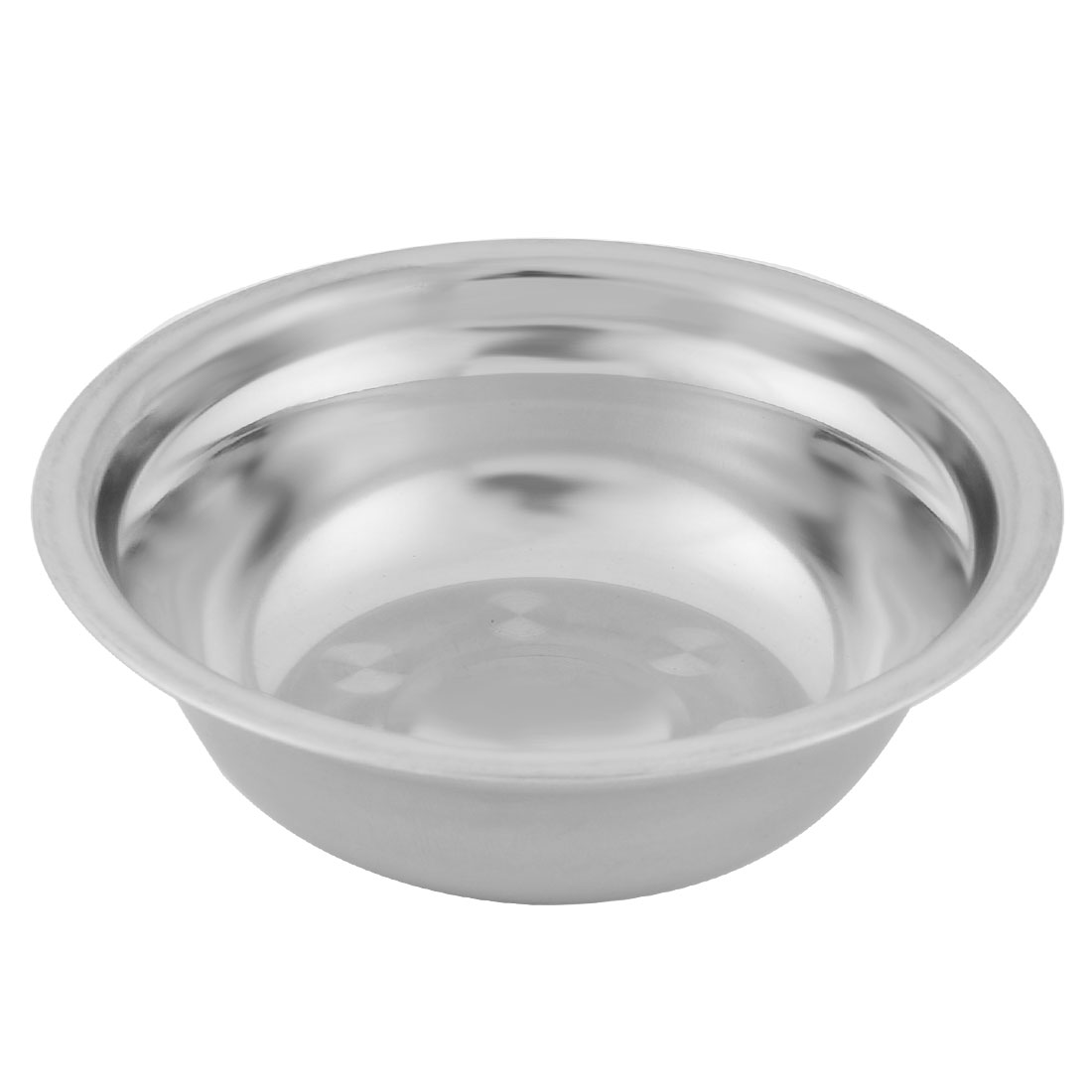 Household Kitchen Stainless Steel Fruit Soup Rice Dinner Bowl 15cm Diameter Silver Tone