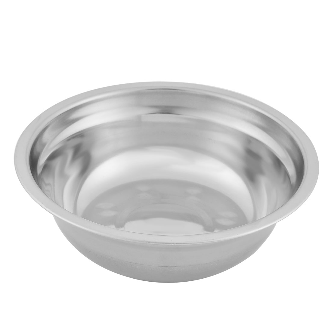 Household Kitchen Stainless Steel Fruit Soup Rice Dinner Bowl 17cm Diameter Silver Tone