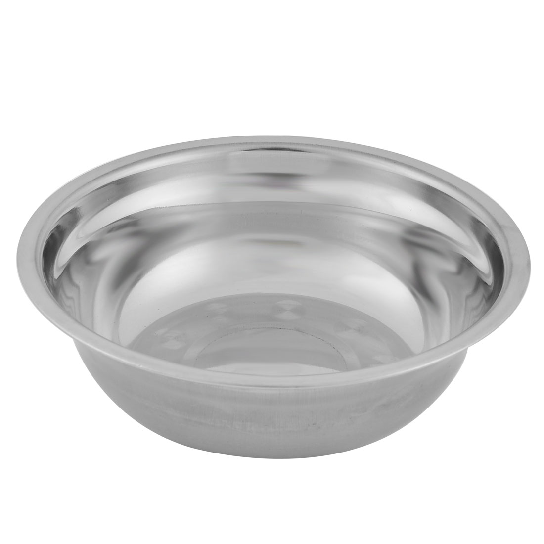 Household Kitchen Stainless Steel Fruit Soup Rice Dinner Bowl 19cm Diameter Silver Tone