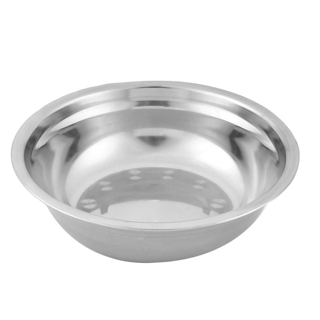 Household Kitchen Stainless Steel Fruit Soup Rice Dinner Bowl 21cm Diameter Silver Tone