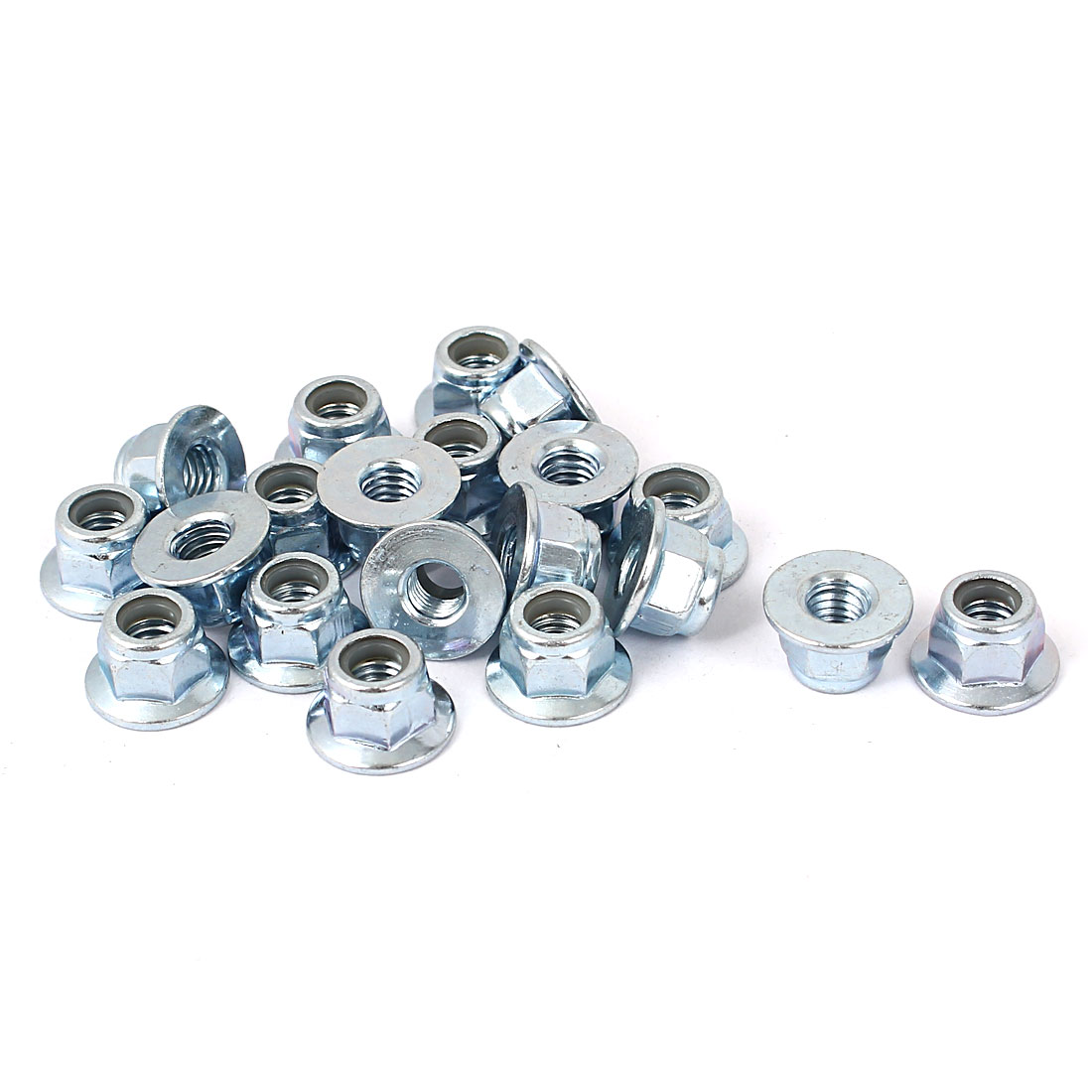 M5 Metric Carbon Steel Hex Flange Stop Lock Nut 20pcs