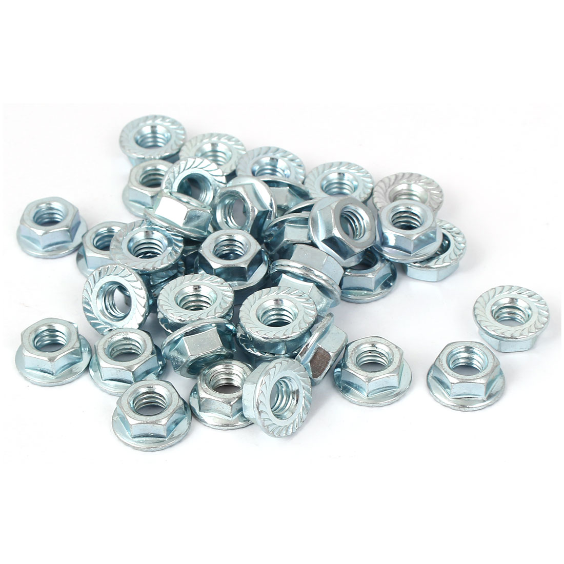 "5/16""x18 Carbon Steel Serrated Hex Flange Lock Nuts 40pcs"