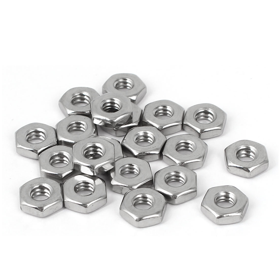 10#-24 304 Stainless Steel Hex Nut Fastener 20pcs for Screw Bolt