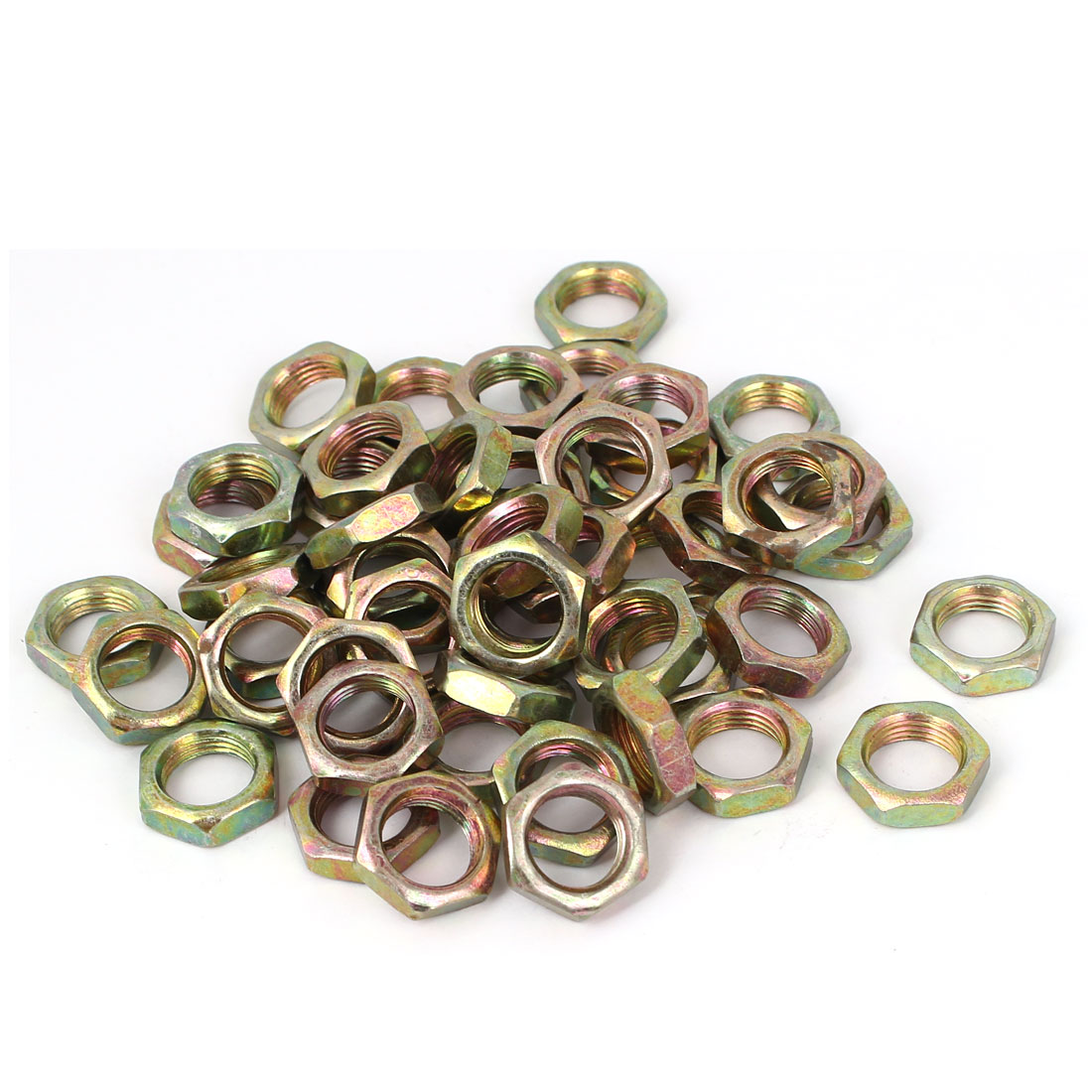 M12x5mm Carbon Steel Hex Nuts Fastener 50pcs for Screws Bolts