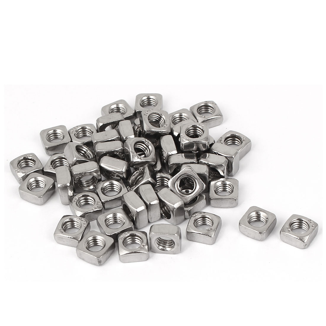 M5x8mmx4mm 304 Stainless Steel Square Machine Screw Nuts 50pcs