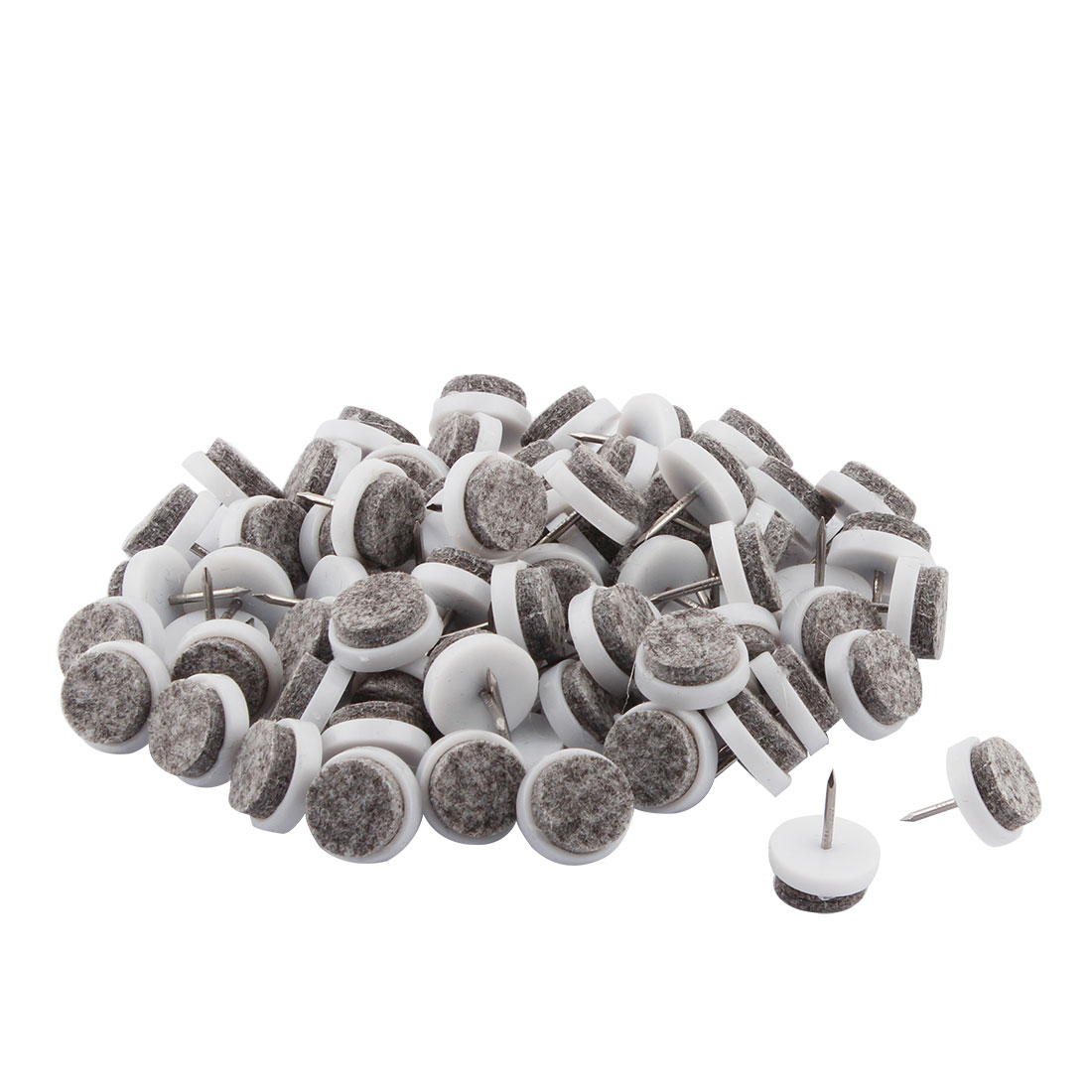 Home Restaurant Plastic Furniture Table Chair Leg Nail Protector Gray White 70 Pcs