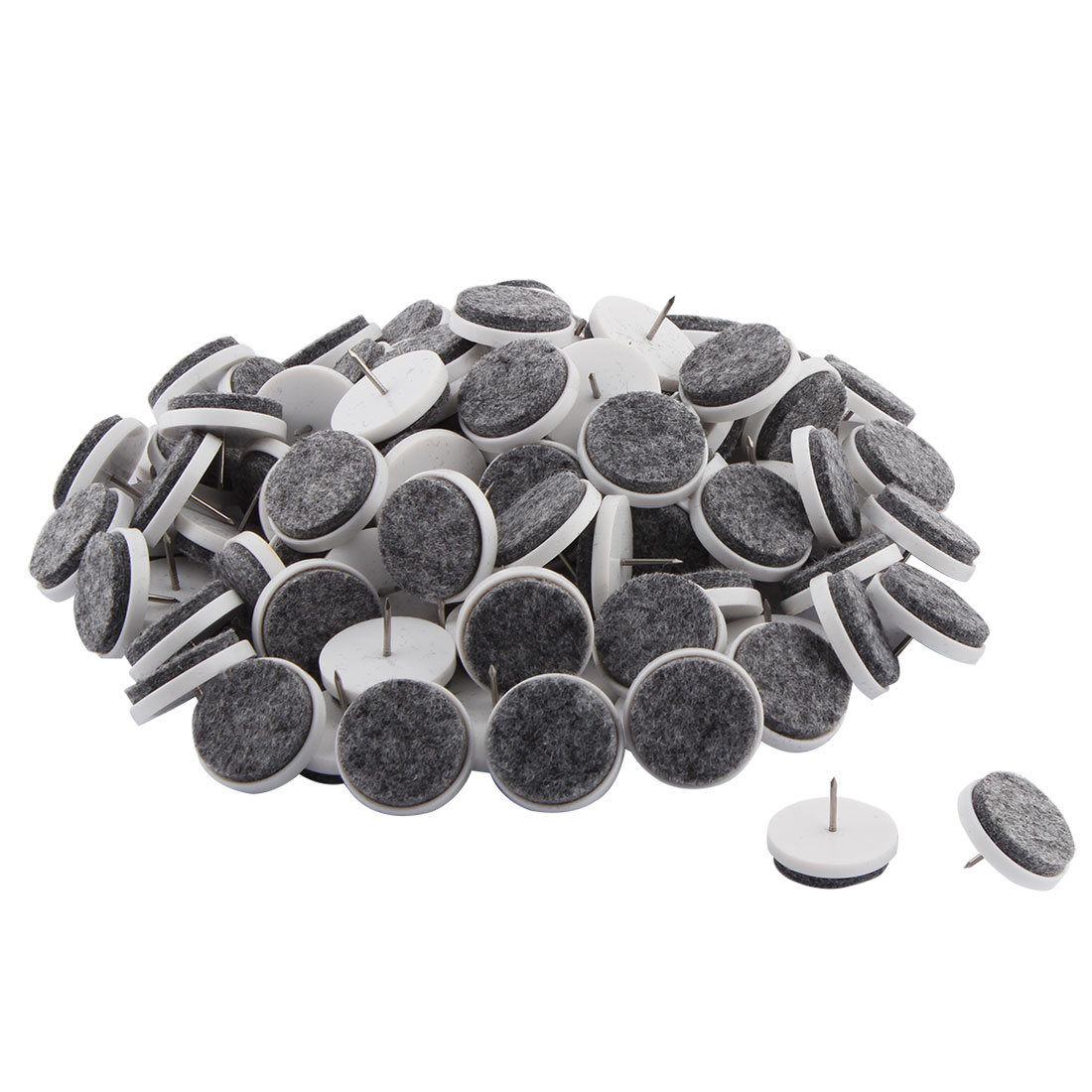 Household Plastic Furniture Table Chair Leg Nail Protector Gray White 80 Pcs
